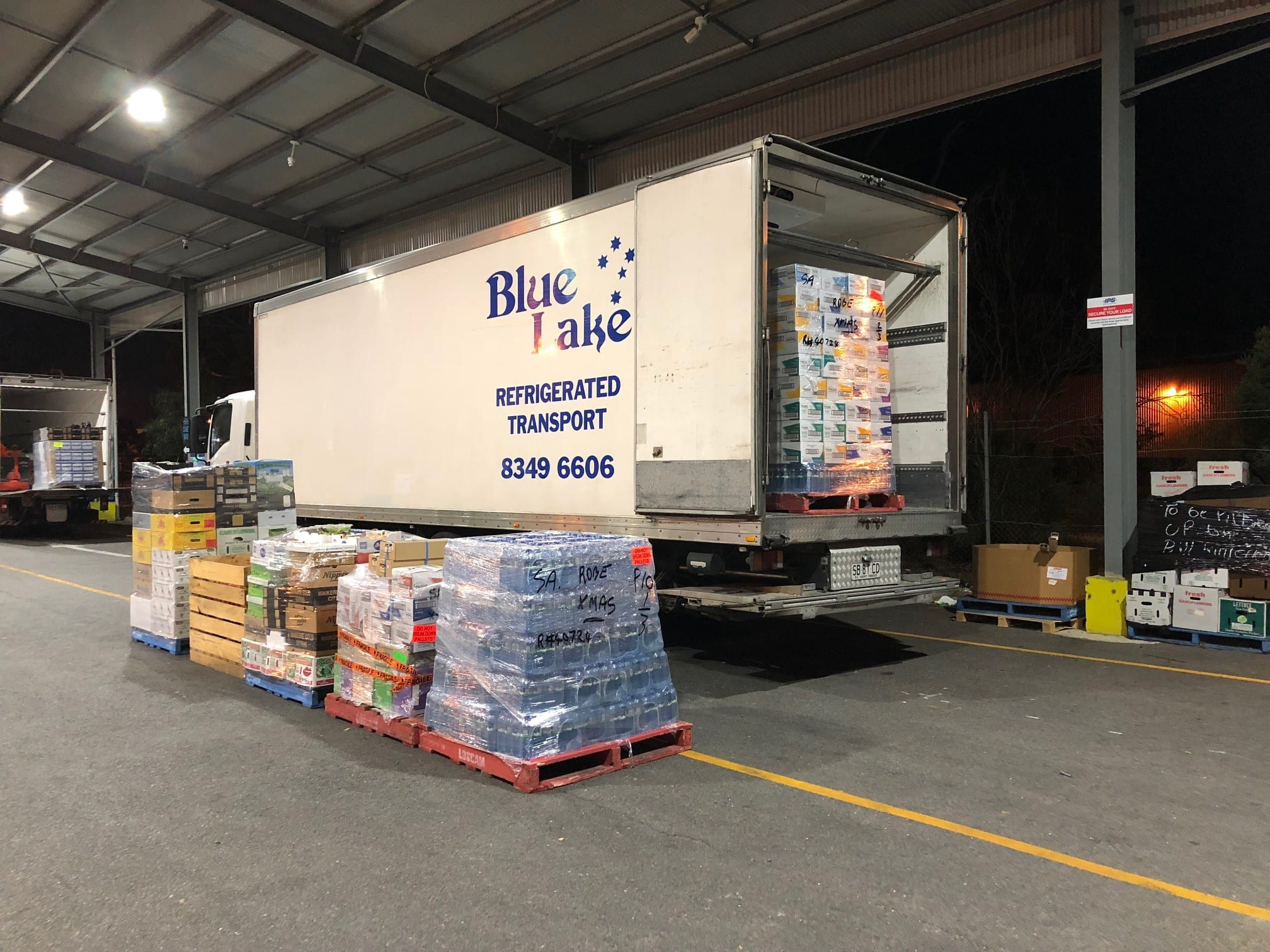 Refrigerated Transport Ready For Stores delivery